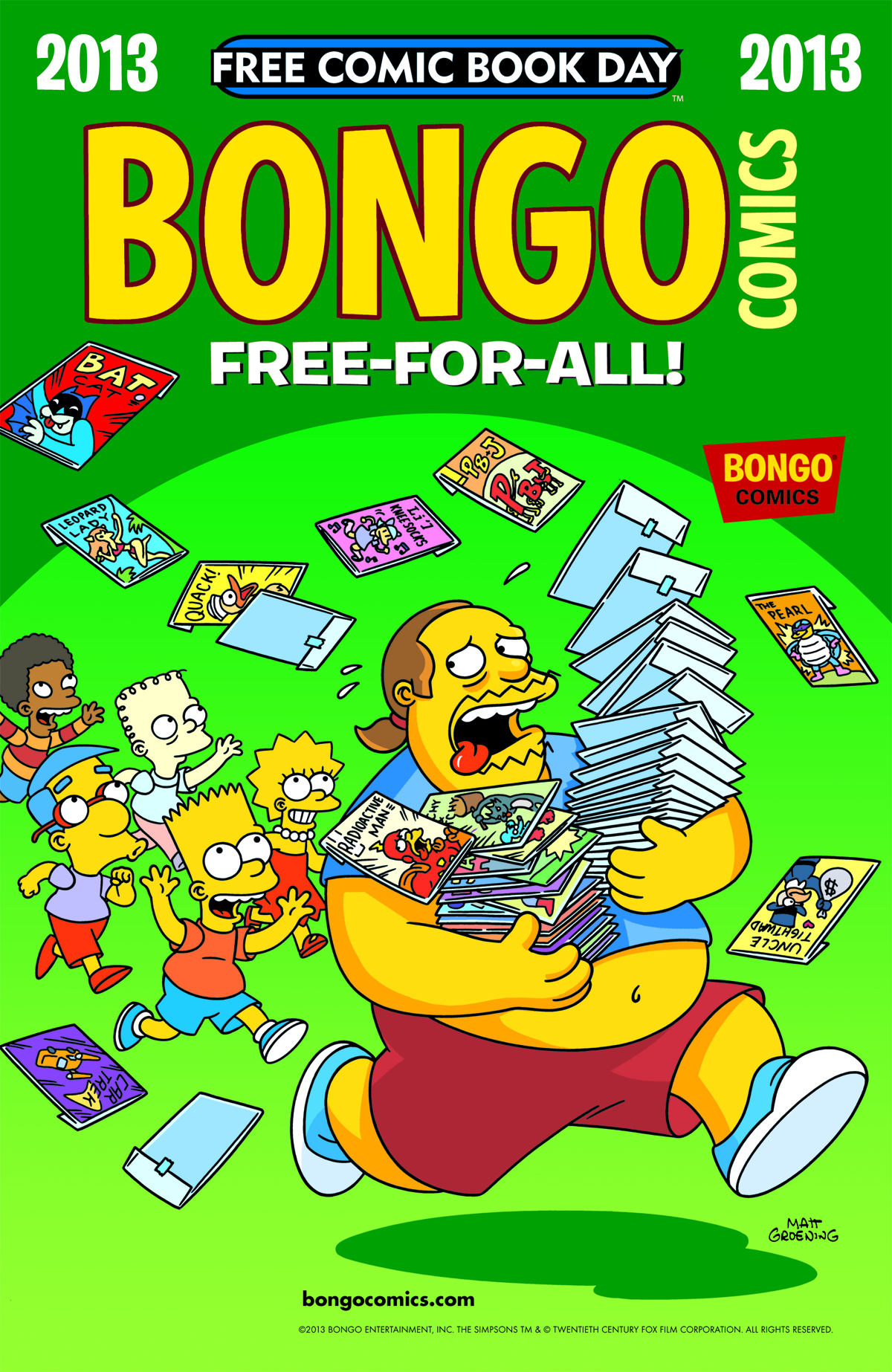 FCBD 2013 BONGO FREE-FOR-ALL