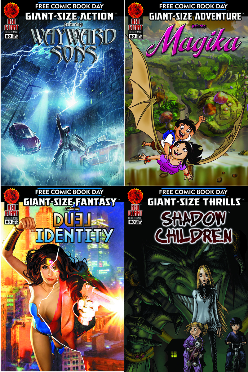 FCBD 2014 GIANT-SIZE 4-COMIC BUNDLE