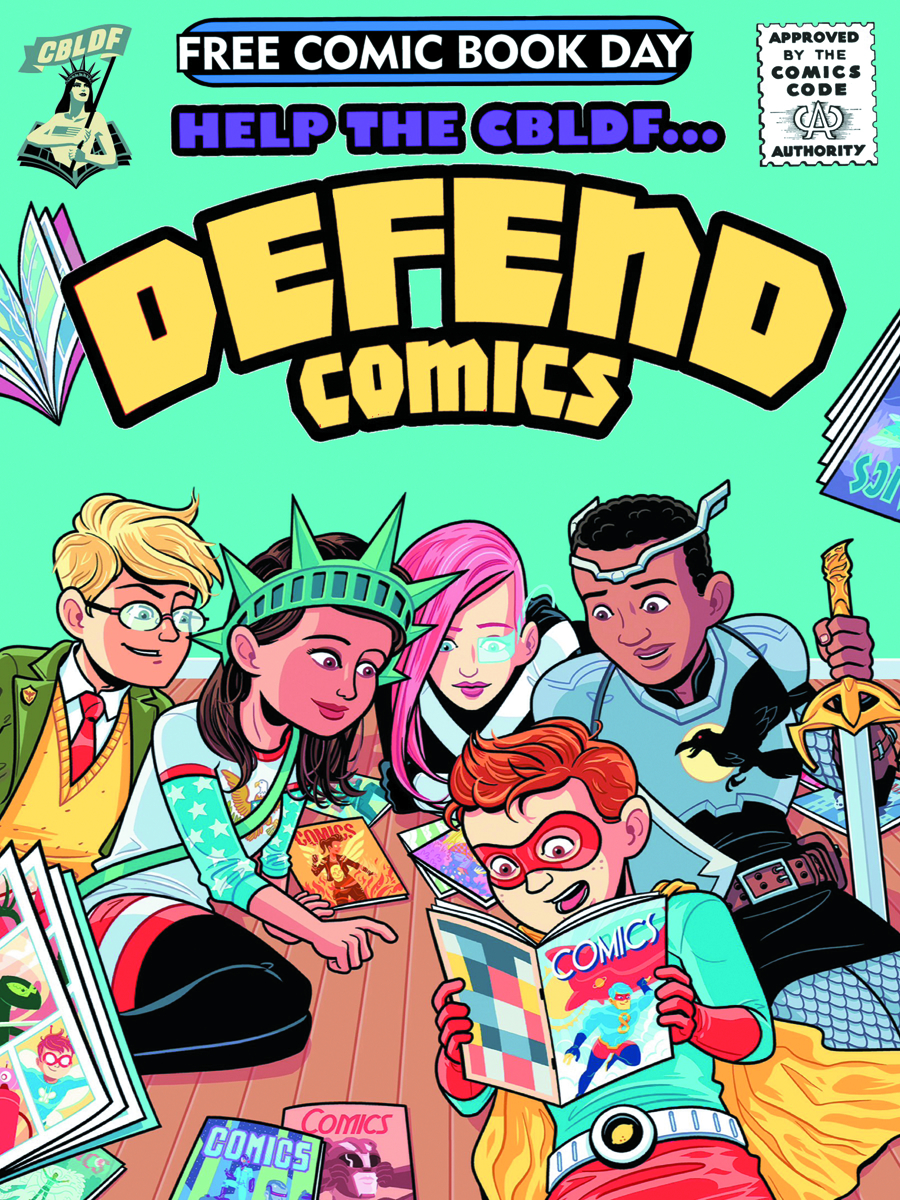 FCBD 2015 CBLDF DEFEND COMICS