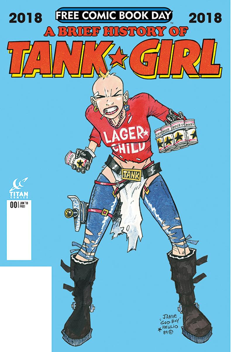 TANK GIRL 1990 Penguin Books Poster By Jamie Hewlett