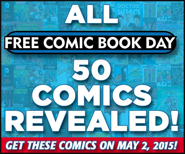 157710 664613 5 FREE COMIC BOOK DAY TITLES ANNOUNCED