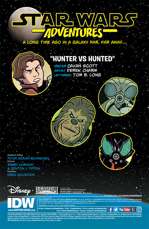 Free Comic Book Day, FCBD, IDW Publishing, Star Wars Adventures